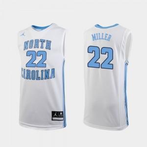 White Walker Miller College Jersey Replica #22 University of North Carolina Basketball For Men