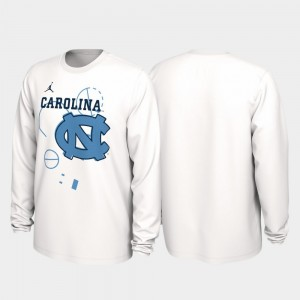 UNC Tar Heels 2020 March Madness Men's White Our Time Bench Legend College T-Shirt