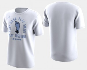 Men's March Madness Bench UNC College T-Shirt Basketball Tournament White