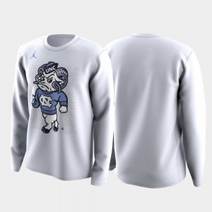 Family on Court Tar Heels Men College T-Shirt March Madness Legend Basketball Long Sleeve White