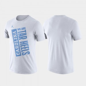White College T-Shirt North Carolina Basketball Performance For Men's Just Do It