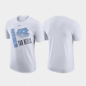 White Performance Cotton University of North Carolina College T-Shirt Mens Just Do It