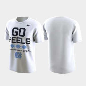 Performance For Men's White College T-Shirt Local Verbiage University of North Carolina