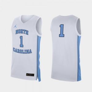 North Carolina #1 White Replica Basketball For Men's College Jersey