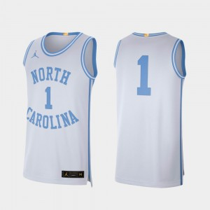 For Men's White Retro Limited College Jersey Basketball #1 North Carolina Tar Heels