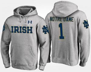 Gray No.1 #1 Fighting Irish College Hoodie For Men's