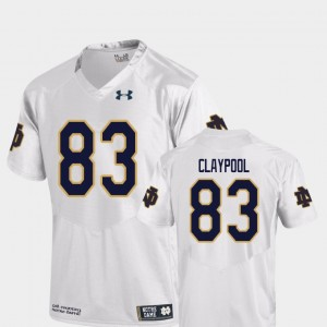 University of Notre Dame White Mens Chase Claypool College Jersey Football Replica #83