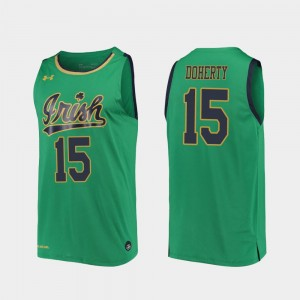 Chris Doherty College Jersey Kelly Green For Men 2019-20 Basketball Notre Dame Fighting Irish #15 Replica