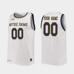 College Custom Jerseys 2019-20 Basketball For Men White Replica #00 Notre Dame