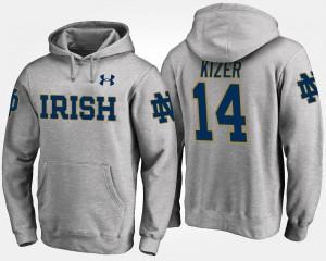 Gray DeShone Kizer College Hoodie Irish Men's #14