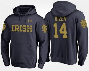 Notre Dame Fighting Irish For Men's #14 Navy DeShone Kizer College Hoodie