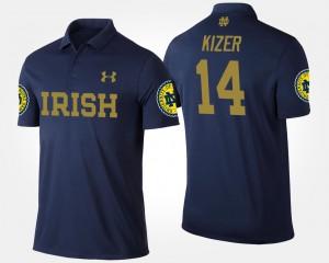 Navy Notre Dame Fighting Irish #14 For Men DeShone Kizer College Polo