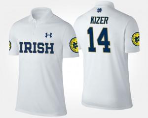 DeShone Kizer College Polo UND White #14 Men