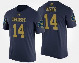 Navy #14 For Men Fighting Irish DeShone Kizer College T-Shirt