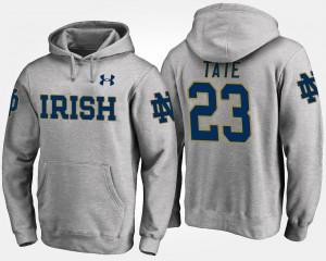 Golden Tate College Hoodie Mens Gray Notre Dame #23