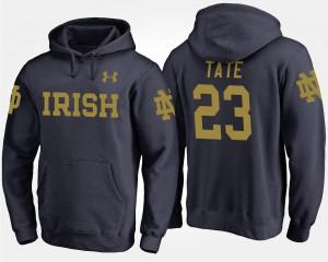 UND Golden Tate College Hoodie Mens #23 Navy