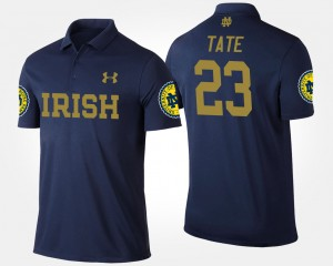 #23 Men Navy Golden Tate College Polo Fighting Irish