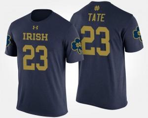 Mens Notre Dame Fighting Irish Golden Tate College T-Shirt #23 Navy