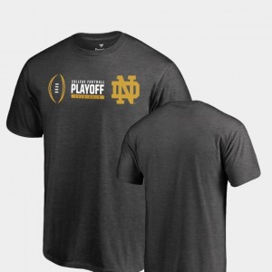 Cadence Big & Tall Mens College T-Shirt Notre Dame Fighting Irish 2018 Football Playoff Bound Heather Gray
