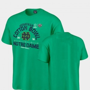 ND 2018 Cotton Bowl Bound Hayneedle Football Playoff For Men College T-Shirt Kelly Green