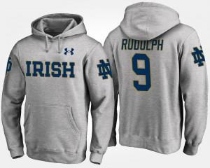 #9 Men's Notre Dame Fighting Irish Gray Kyle Rudolph College Hoodie