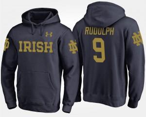 #9 Men Navy Fighting Irish Kyle Rudolph College Hoodie