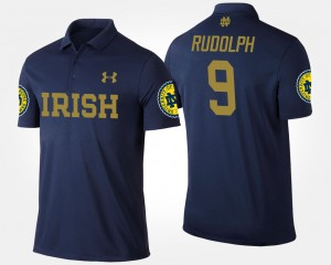 Navy Men's Kyle Rudolph College Polo #9 ND