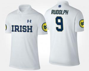 For Men Fighting Irish White Kyle Rudolph College Polo #9
