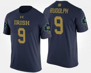 Kyle Rudolph College T-Shirt Men Navy Notre Dame #9