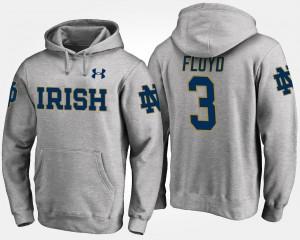 #3 Gray Fighting Irish Men's Michael Floyd College Hoodie