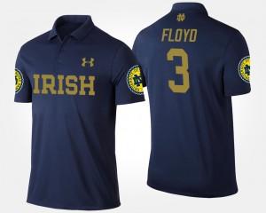 University of Notre Dame Men's #3 Michael Floyd College Polo Navy