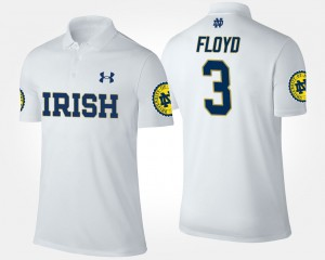 Notre Dame Fighting Irish White Men's Michael Floyd College Polo #3