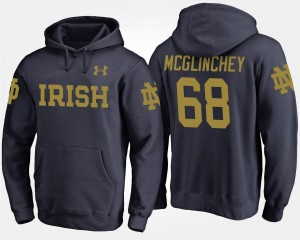 Mike McGlinchey College Hoodie Navy Notre Dame Fighting Irish Men's #68