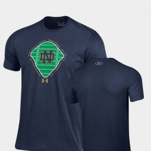 Navy ND 2018 Shamrock Series For Men's College T-Shirt Field Charged Cotton