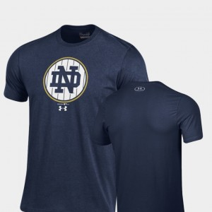 Pinstripe Charged Cotton 2018 Shamrock Series University of Notre Dame For Men Navy College T-Shirt