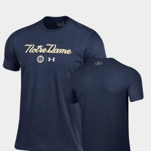 2018 Shamrock Series College T-Shirt Men's Script Charged Cotton Navy Fighting Irish