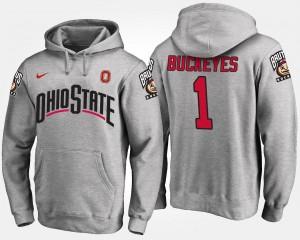 No.1 Ohio State Buckeye Gray College Hoodie #1 Mens