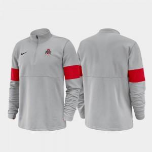 Buckeyes Half-Zip Performance College Jacket Men 2019 Coaches Sideline Anthracite