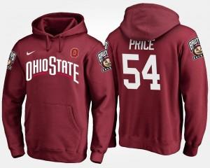 OSU For Men #54 Billy Price College Hoodie Scarlet