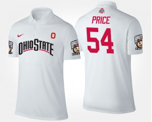 White Billy Price College Polo For Men #54 Buckeyes