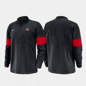 Half-Zip Performance Ohio State College Jacket 2019 Coaches Sideline Black Men's