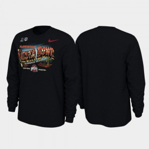 2019 Fiesta Bowl Bound Illustrations Long Sleeve Ohio State Mens College T-Shirt Black