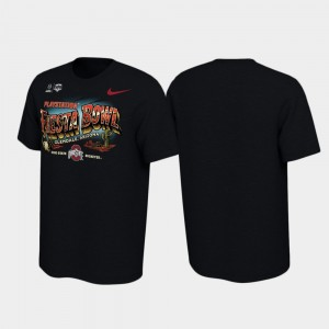 Black Mens Illustrations College T-Shirt Buckeyes 2019 Fiesta Bowl Bound