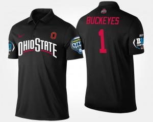 Black College Polo No.1 Big Ten Conference Cotton Bowl #1 Buckeye For Men Bowl Game