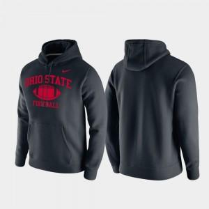 Club Fleece Black College Hoodie Retro Football Men Ohio State