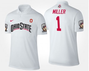 OSU For Men Braxton Miller College Polo #1 White