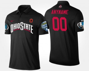 Men's Big Ten Conference Cotton Bowl OSU Buckeyes College Customized Polo #00 Bowl Game Black