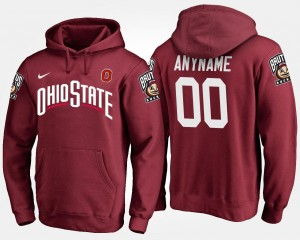 #00 Ohio State Buckeyes College Customized Hoodie Scarlet For Men