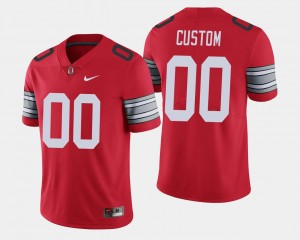 College Customized Jersey 2018 Spring Game Limited Scarlet #00 Ohio State Mens