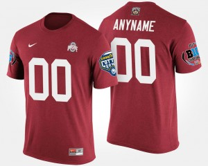 College Customized T-Shirt #00 Big Ten Conference Cotton Bowl Bowl Game Mens Scarlet Ohio State